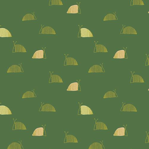 Moss Snail Mail Dew & Moss Collection cotton quilting fabric from Art Gallery Fabrics