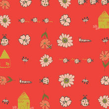 Bugs and Posy Dew & Moss Collection cotton quilting fabric by Art Gallery Fabrics