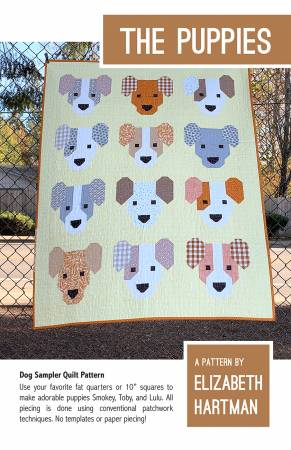 The Puppies Quilt Pattern from Elizabeth Hartman