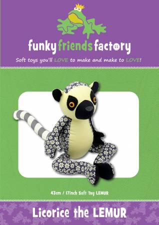 Licorice The Lemur Funky Friends Factory Pattern