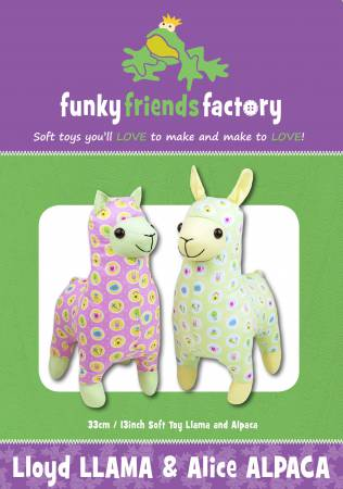 Lloyd Llama & Alice Alpaca Stuffed Toy Pattern
