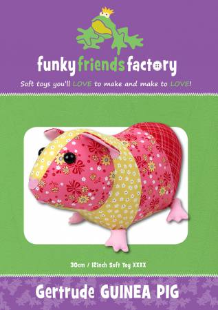 gertrude guinea pig stuffed animal pattern from funky friends factory
