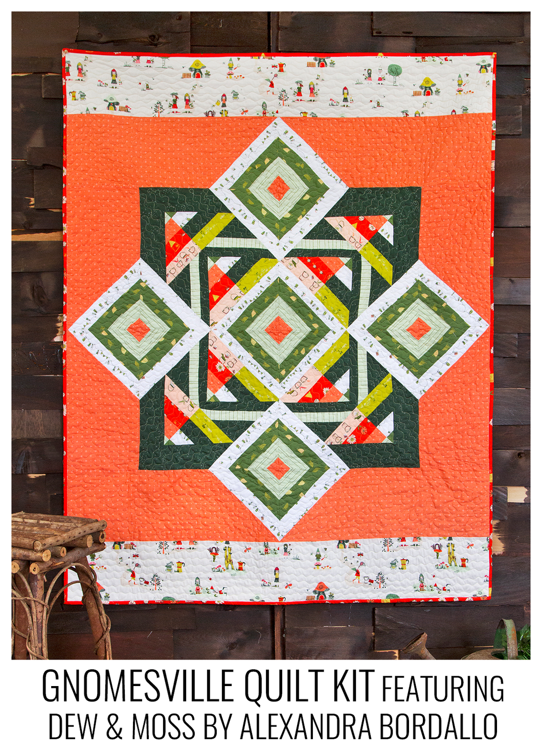 Gnomesville Quilt Kit