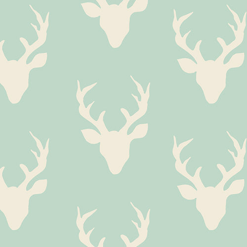 Buck Forest Mint Fabric - Stitch Morgantown