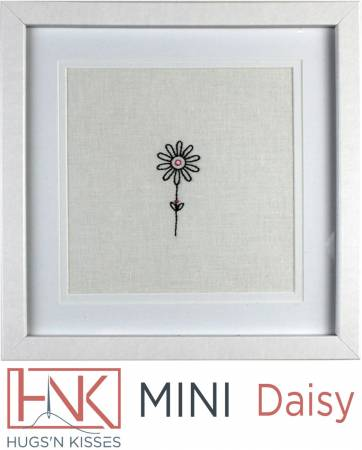 Daisy Hugs 'N Kisses Mini Embroidery Pattern