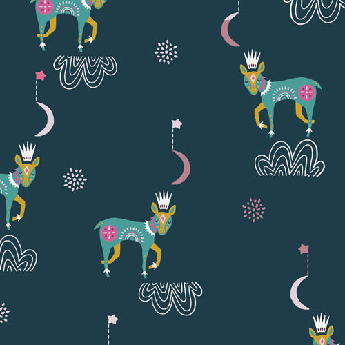 Lugu Sleep Tight Nightfall by Jessica Swift for Art Gallery Fabrics