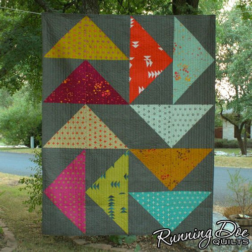 Beginner Quilting Lazy Goose Quilt, 2 Parts