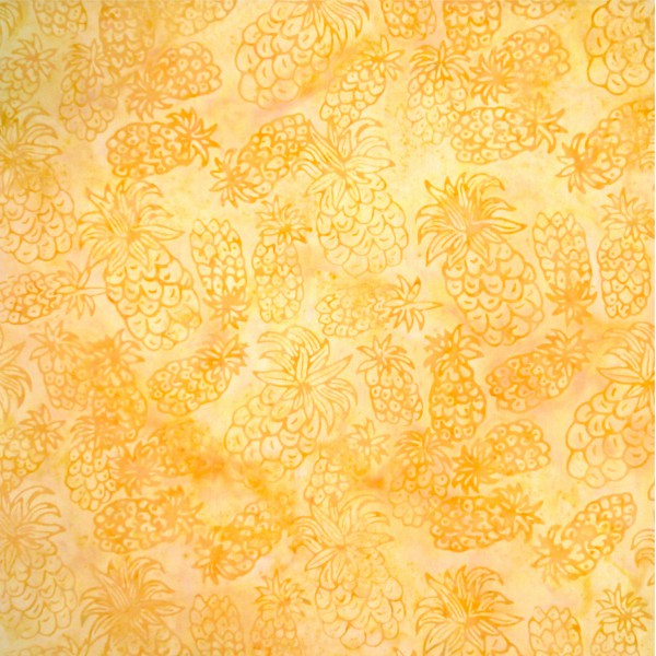 Helios Lemon Drop Pineapple Batik - Stitch Morgantown