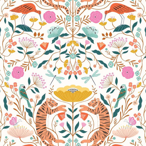 Dashwood Our Planet Tiger Mandala Cotton Quilting Fabric