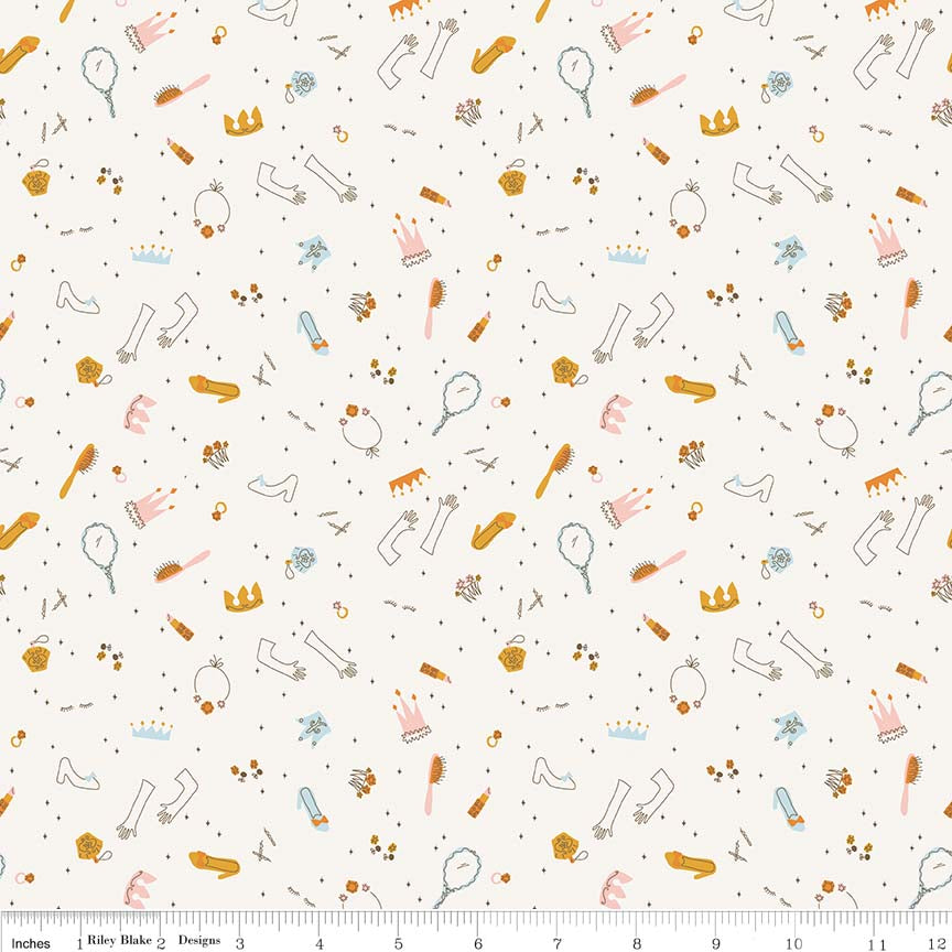 Guinevere Cream Pricess Accessories  Fabric - Stitch Morgantown