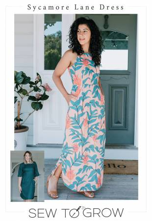 Sycamore Lane Dress Sew to Grow Front View