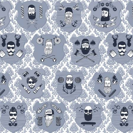 Chop It While It's Hot White by Dear Stella cotton fabric