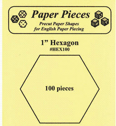 Hexagon 1in 100 Pcs Paper Templates for English Paper Piecing