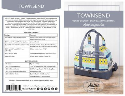 Townsend Travel Bag Pattern - Stitch Morgantown