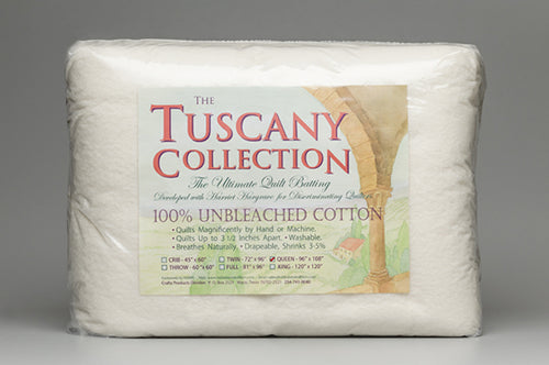 Tuscany Collection Unbleached Cotton Quilt Batting King Size - Stitch Morgantown