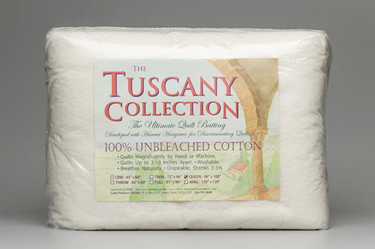 Tuscany Collection Unbleached Cotton Quilt Batting Throw Size - Stitch Morgantown