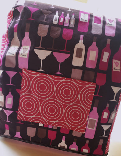 Large Stand Mixer Cover Wine Wishes - Stitch Morgantown