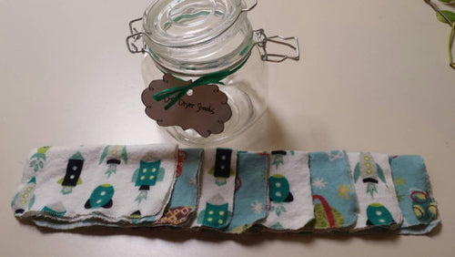 DIY Dryer Sheets Jar Outer Space - Stitch Morgantown