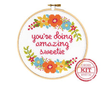 You're Doing Amazing Sweetie Cross Stitch Kit by The Stranded Stitch