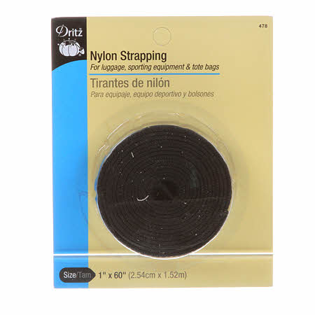Dritz Heavy Duty Black Nylon Strapping 1 inch wide by 60 inches long