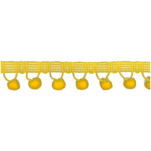 Chenille Pom Pom Trim Yellow - Stitch Morgantown