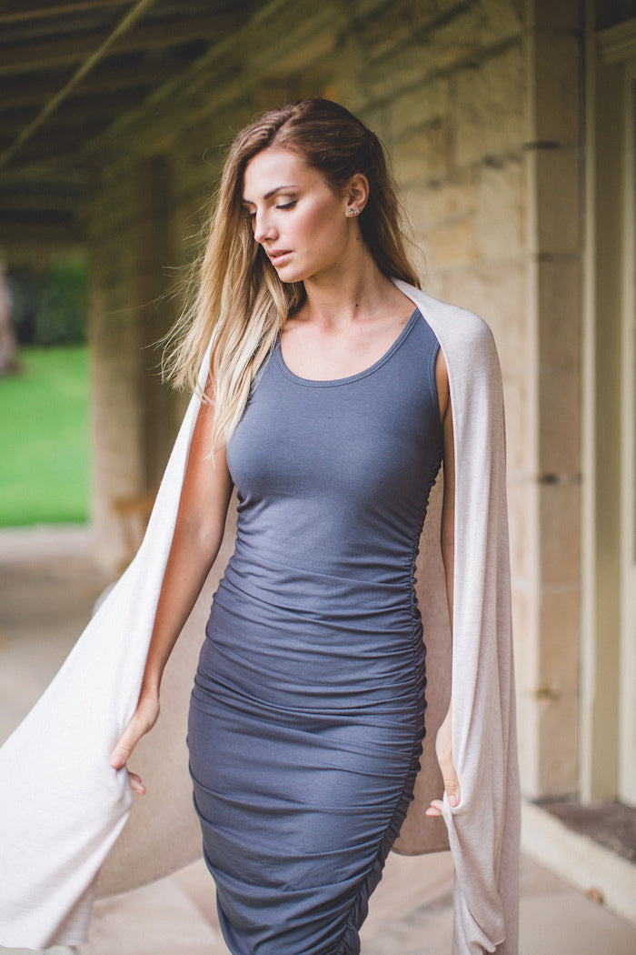 Luxe Nursing & Travel Wrap - Bamboo, Cashmere & Wool blend - by Bamboo Body Baby Shower Gift Maternity Wear Nursing Wrap
