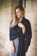 Bamboo Body Maternity Nursing Breastfeeding Wrap Travel Shawl Cashmere Oatmeal Black or Brown Ecofriendly Clothing Women Ultrasoft Cygnet Royale