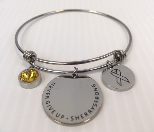 MTJ Foundation Childhood Cancer Awareness Charm Bracelet