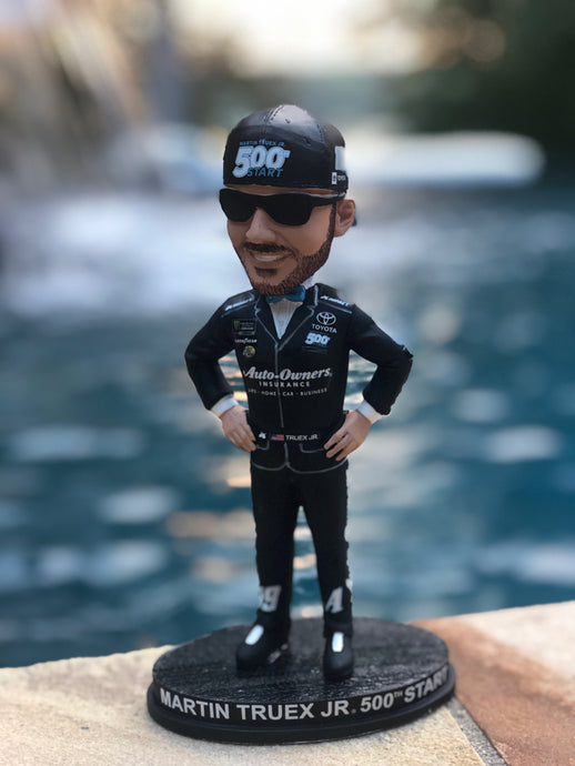 *AUTOGRAPHED* Auto Owners Insurance 500th Start Martin Truex Jr. Bobble Head