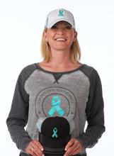 Sherry Strong Teal Ribbon Hat