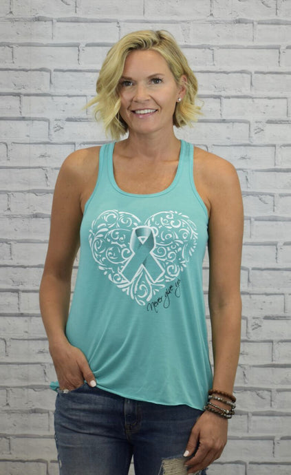 Sherry Strong Teal Ribbon Tank