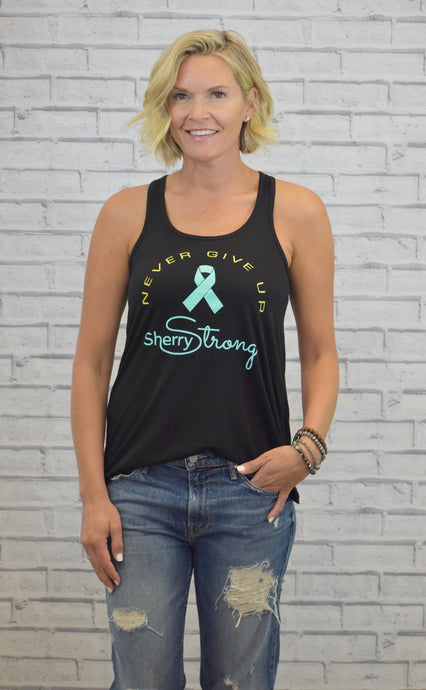 Sherry Strong Never Give Up Tank
