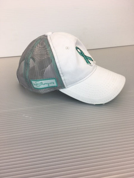 SherryStrong Teal Ribbon Hat