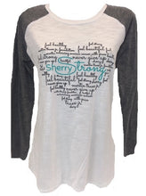 Sherry Strong Word Cloud Baseball Tee