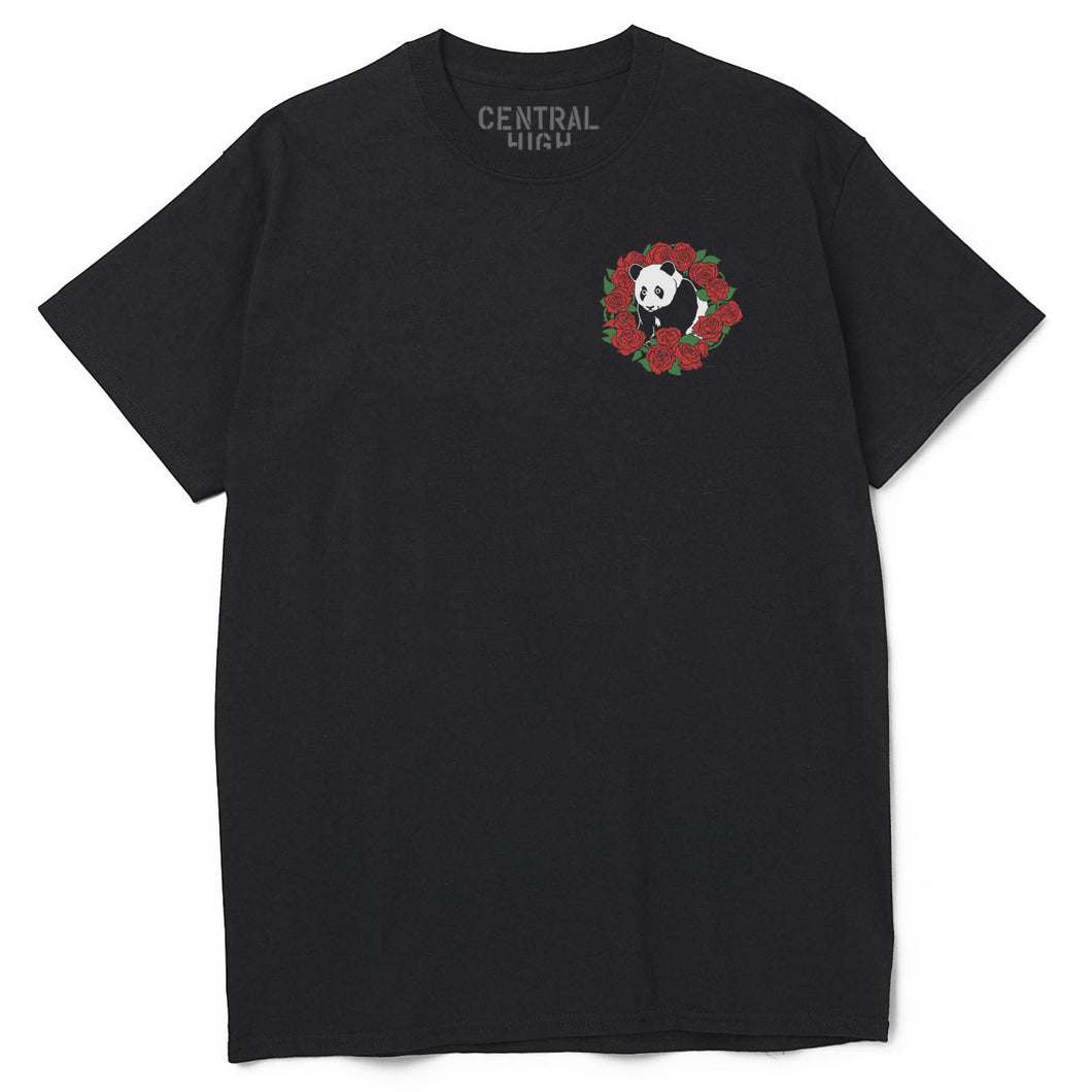 PANDA ROSES TEE - BLACK - CENTRAL HIGH - TSHIRT CENTRAL HIGH BRAND