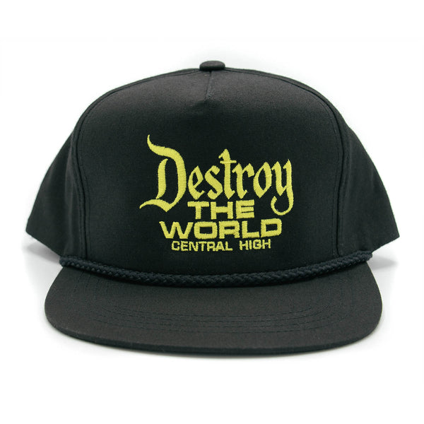 DESTROY THE WORLD HAT BLACK - CENTRAL HIGH