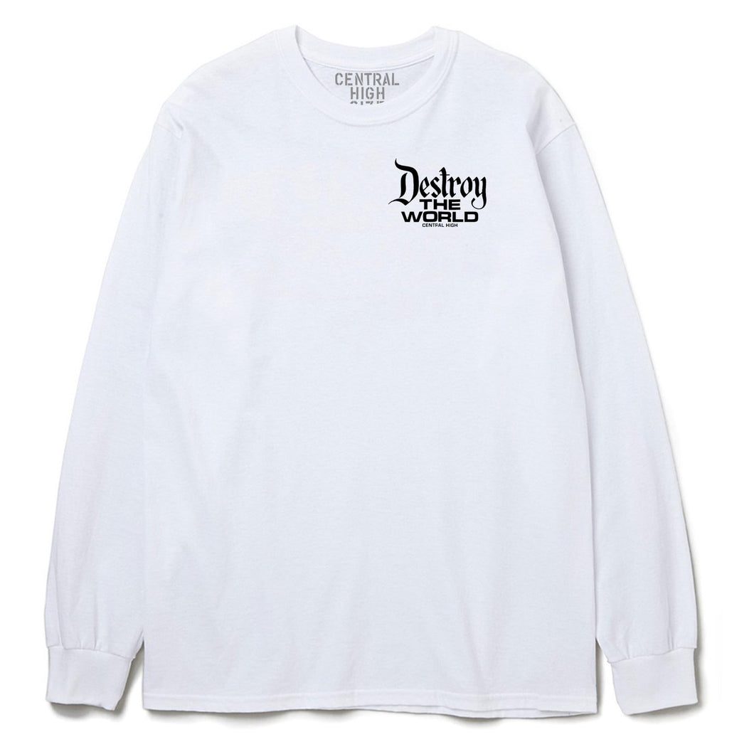 DESTROY THE WORLD LONG SLEEVE - CENTRAL HIGH - TSHIRT CENTRAL HIGH BRAND