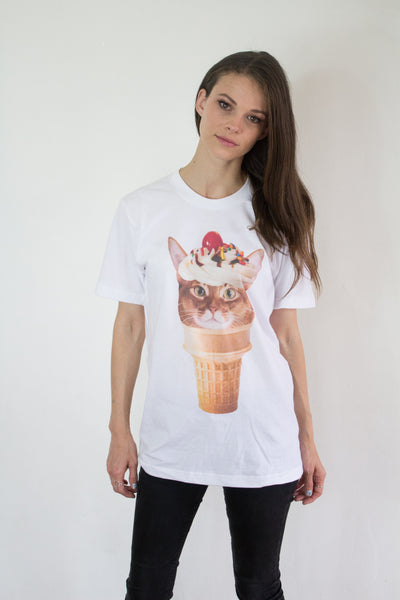 Ice Cream Cat Sundae T-Shirt (Unisex)