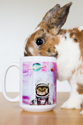 Space Astronaut Kitty Coffee Mug