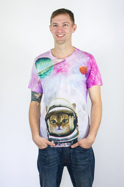 Space Astronaut Kitty All-Over Print Shirt (Unisex)