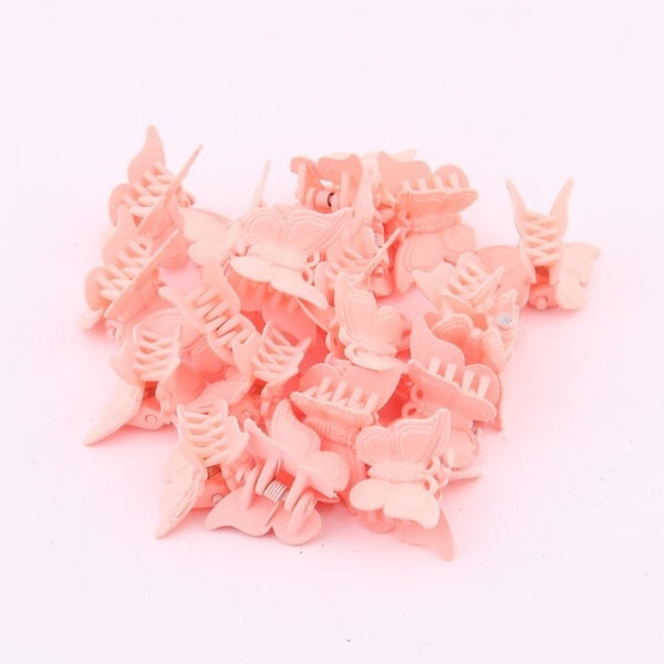 Mini Butterfly Hair Clips (20 Pieces)