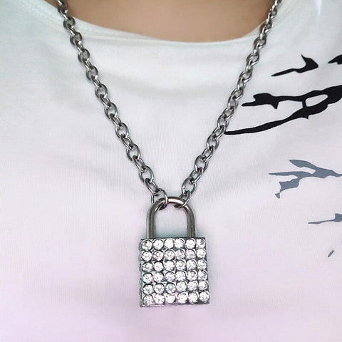 Jeweled Lock Neckalce