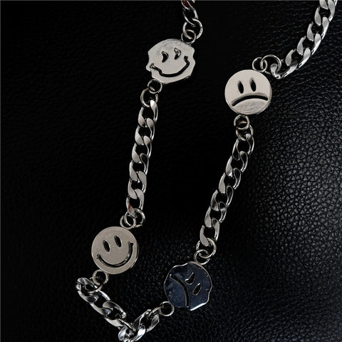 Faces Chain Necklace