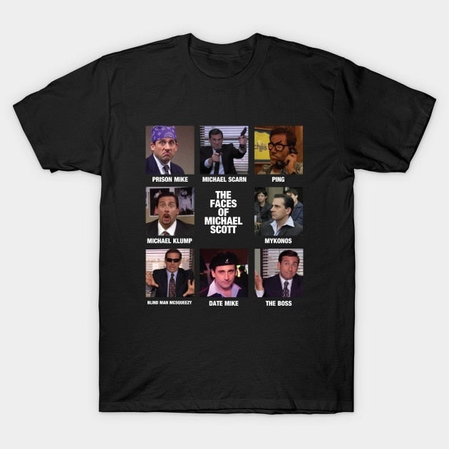 Faces of Michael Scott Tee