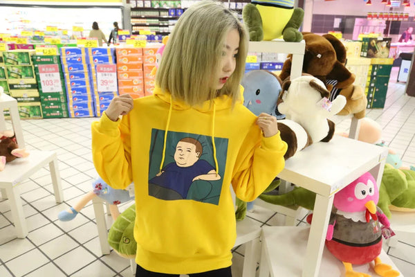 Cartoon Printed Hoodie