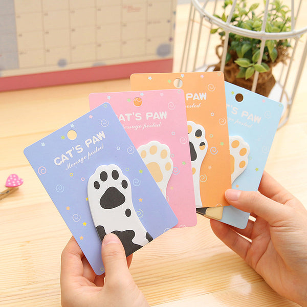 Cat Paw Sticky Note Pad