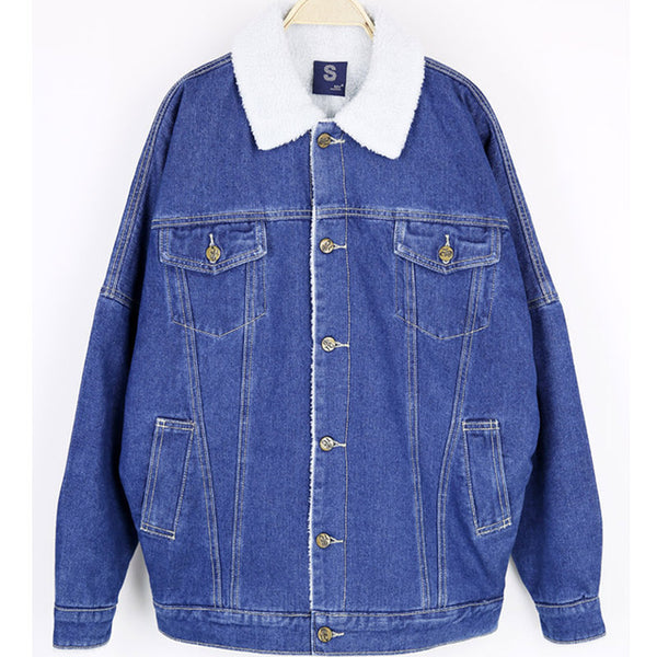 Denim Faux Fir Jacket