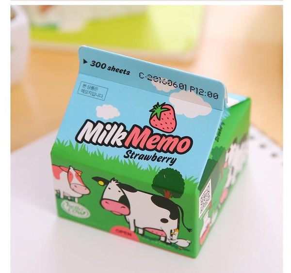 (300 Sheets)  Milk Shape Sticky Note Pad