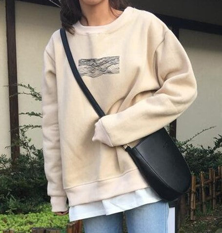 Line Waves Sweater