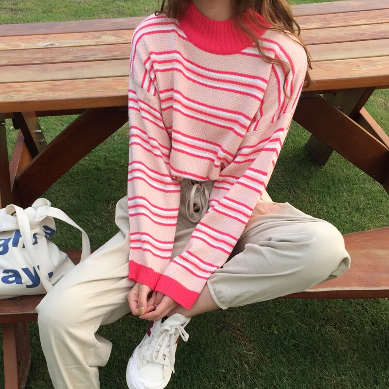 Pink Stripe Sweater